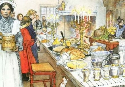 Christmas in Sweden, holiday traditions and recipes on Gourmetpedia