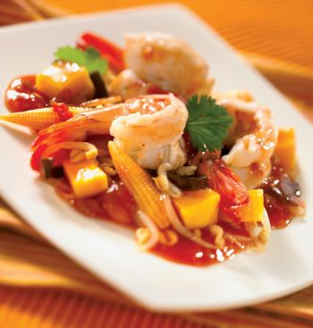Prawns with Mango and Hot Sauce