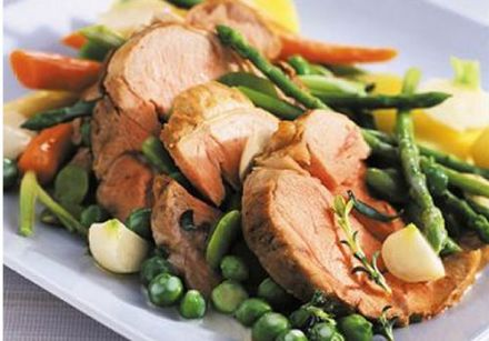 Poached Veal Shanks with Spring Vegetables