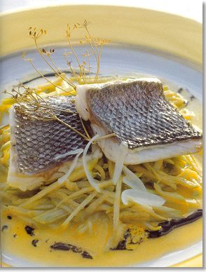 New Wave Sea Bass with Vanilla-Scented Olive Oil