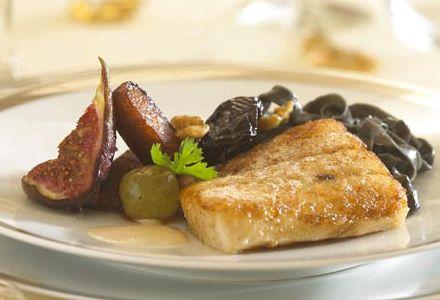 Roast Pike-Perch Loin with Christmas Beer and Fruit Fricassée