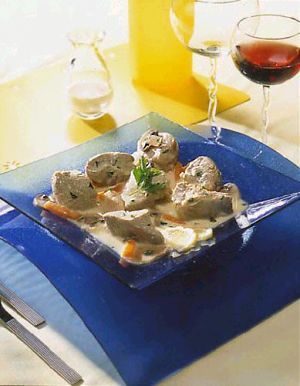 Veal Blanquette with Two Mushrooms