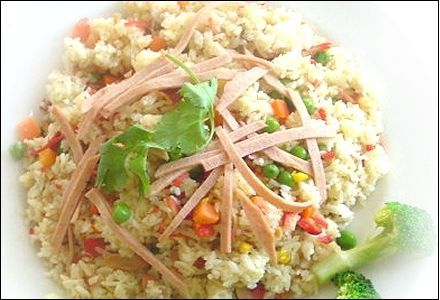 Fried Rice with Shrimp (or Crab) and Pork - Bokum Bahb