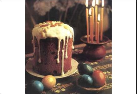 Kulich, a traditional Russian Easter cake