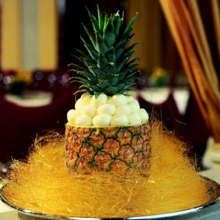 Pineapple and Coconut Givré
