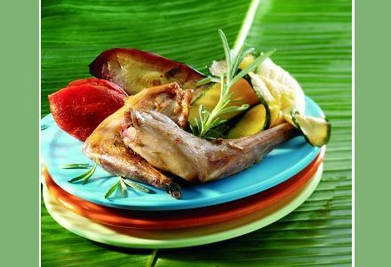 Grilled Rabbit with Summer Vegetables