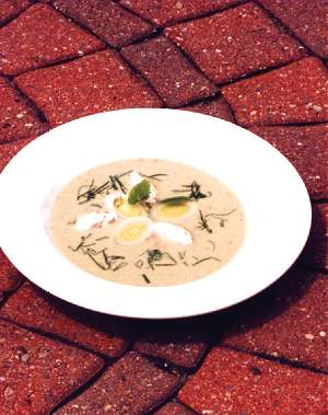 Cream of Leek Soup with Lemon Balm