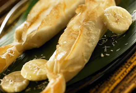 Crispy Banana and Coconut Parcels