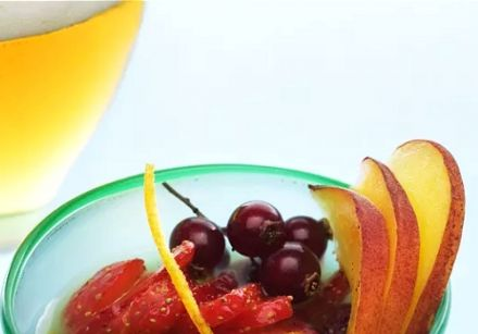 Sparkling Fruit Soup with March Beer