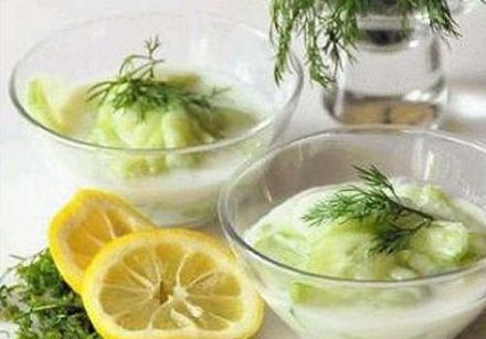 Cucumber in Sour Cream and Dill