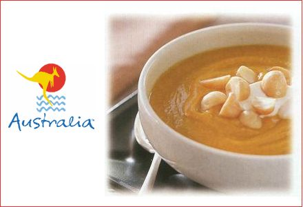 Pumpkin Soup with Macadamia Nuts