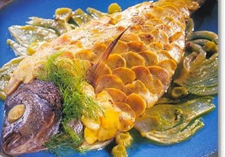 Sea Bream with Fennel and Ginger Scales