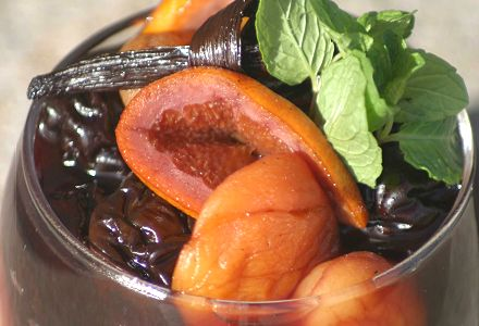Prune, Apricot and Orange Salad with Bordeaux Wine
