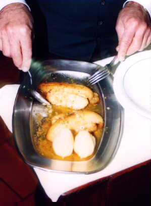 Grouper or Sole Delicia, with Bananas