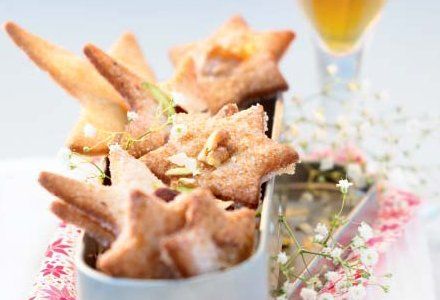 Christmas Star Cookies with Fruits and Nuts