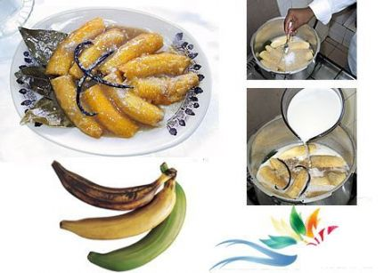 Bananas St-Jacques or Plantains Cooked in Coconut Milk