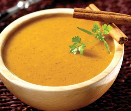 Spiced Cream of Carrot Soup