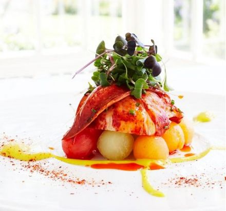 Lobster Salad with Mango Emulsion