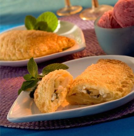 Pear and Bresse Blue Cheese Turnovers
