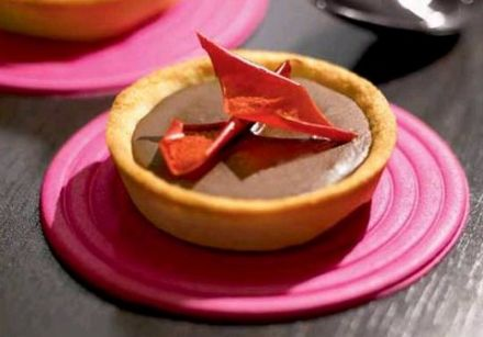 Chocolate, Pepper and Tomato Tarts