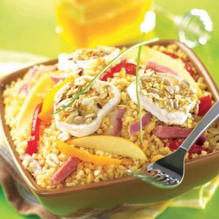 Couscous Salad with Apples and Goat Cheese