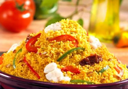 Couscous with Mediterranean Flavors and Fish