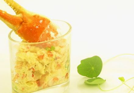 Crab Salad with Curry and Parmesan Loaf