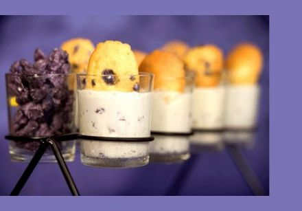 Toulouse Violet Ice Cream and Madeleines