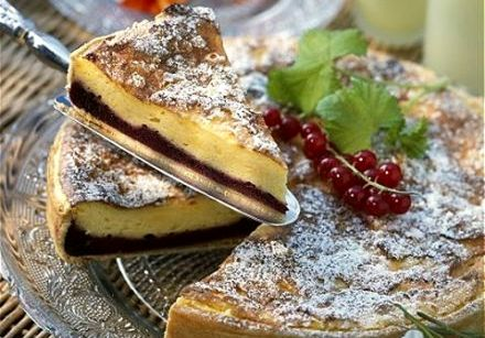Red and Black Currant Cheese Tart