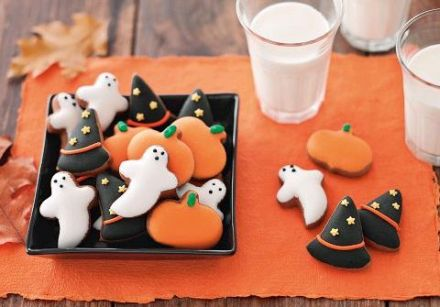 Iced Halloween Cookies