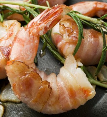 Prawns Flambéed in Whisky