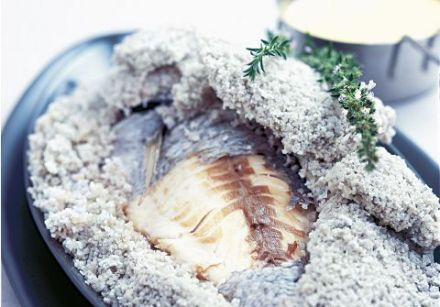 Sea Bream in Guerande Sea Salt Crust