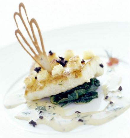 Olive-Crusted Turbot