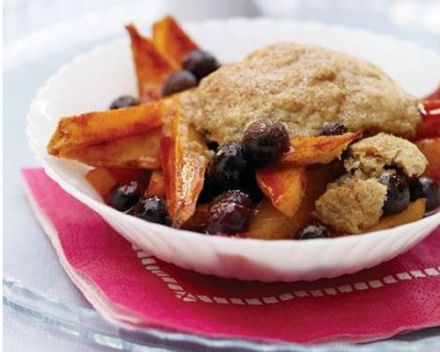 Mango-Blueberry Cobbler