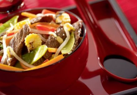 Beef and Vegetables with Bean Sprouts