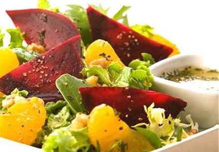 Roasted Beet & Mandarin Orange Salad