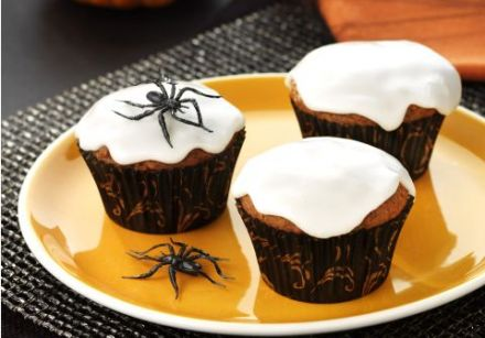 Halloween carrot cupcakes (allergy-free)