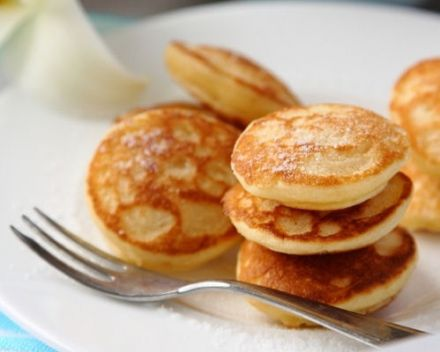 Poffertjes or dutch pancake puffs