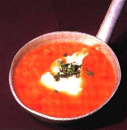 Tomato Soup with Onion - Sopa de Tomate e Cebola
