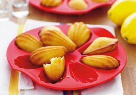Madeleines made with olive oil