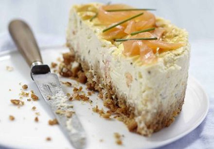 Carré Frais and Smoked Salmon Cheesecake