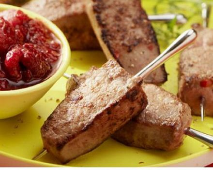 Calf's Liver Brochettes with Raspberry Chutney