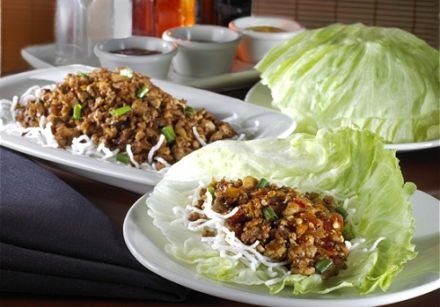 Ginger Chicken Stir-Fry Romaine Wraps with Citrus Soy