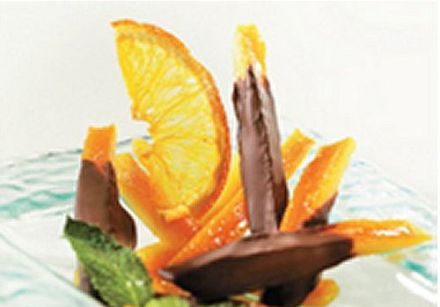 Candied Orange Peel with Chocolate