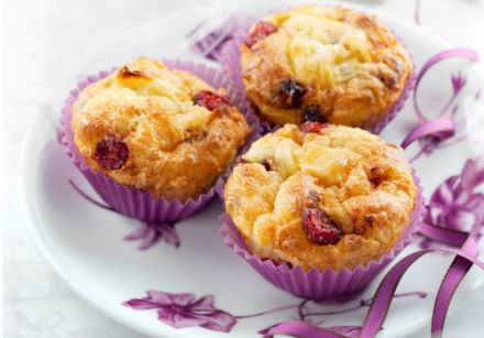 Apple, dried fruits and Boursault Muffins