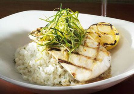 Mahi-Mahi with Lemongrass and Garlic, over Cilantro Rice