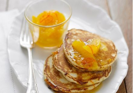 Buttermilk Pancakes with Orange Marmalade