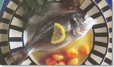 Sea Bream Roasted with Bay Leaf and Lemon with Fennel Seeds and Green Tomato Jam