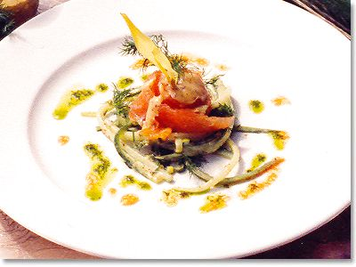 Marinated Trout on Cucumber