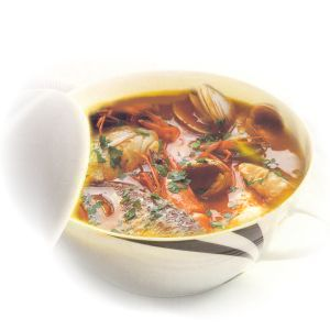 Court-bouillon, fish stock and fish soup